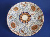 Charlotte Rhead Crown Ducal 'Carnation' Wall Charger c1937 - Pattern 4924